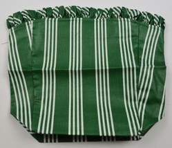 Longaberger 1998 Glad Tidings Basket Liner Hunter Green Stripe Collectib... - $16.99