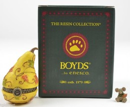 Boyds Bears Treasure Box Aubrey's Gourd Oakley McNibble Enesco Fall Autu... - $17.99