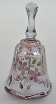 """Fenton Art Glass Purple Hand Painted Bell 4"""" Tall Collectible Home Decor... - $38.99"""