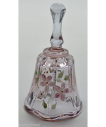 "Fenton Art Glass Purple Hand Painted Bell 4"" Tall Collectible Home Decor... - $38.99"