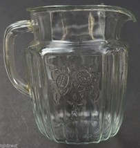 Vintage Anchor Hocking Glass Mayfair Clear Pattern Pitcher Collectible C... - $59.39