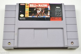 Super Nintendo SNES Video Game Bulls Vs. Blazers And The NBA Playoffs Basketball - $10.00