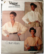 Vogue (Used) 1455 Blouse patterns Size 12 ONLY Calvin Klein - $5.69