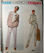 Vogue 2298 Loose jacket & pants, blouse with bow. Sz 12 ONLY Bill Blass - $6.99