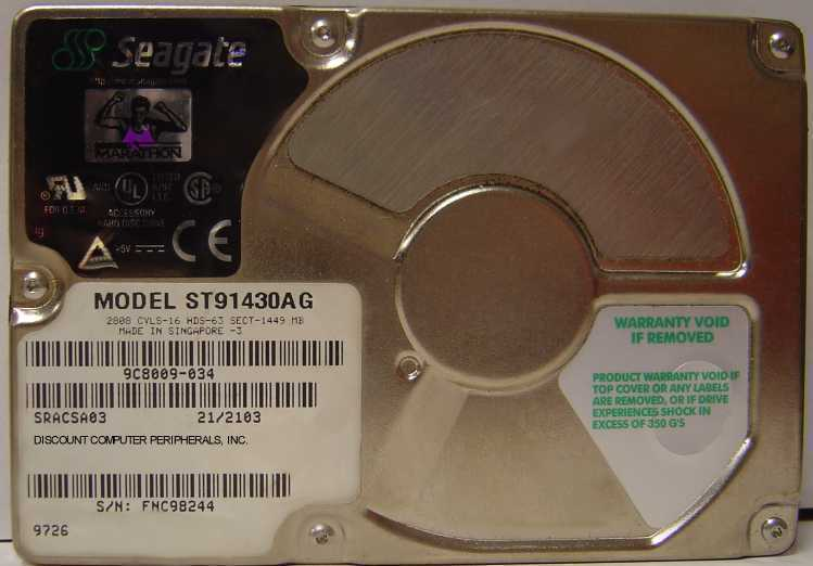 "1.4GB 2.5"" IDE Drive Seagate - ST91430AG Tested Free USA Ship Our Drives Work"