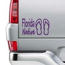 "Florida Native Flip Flops Vinyl Sticker Decal 4""h x 7.5""w - $7.99"