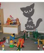 Cute Kitten Chalkboard Vinyl Wall Sticker Decal Kids - $24.99