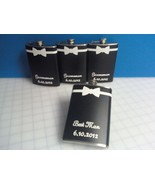 6 Wedding Bachelor Party Custom Stainless Steel Liquor Flasks 6 or 8 oz. - $149.99