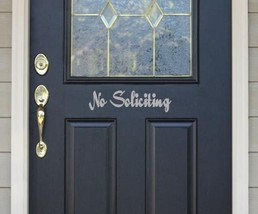 "No Soliciting Vinyl Sticker Decal 3.5""h x 11""w - $9.99"