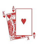 Large King and Ace of Hearts Playing Cards Vinyl Wall Sticker Decal - $34.99