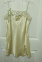 Vintage Victoria's Secret yellow Lingerie Slip Size M - $11.45