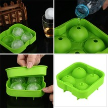 Green Whiskey Ice Cube Ball Maker Mold Sphere Mould Party Tray Round Bar Silicon - $7.99
