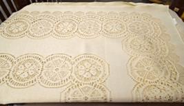 """Vintage Tablecloth - Large Vintage Machine Lace Tablecloth 88"""" x 70""""  #5476 - $29.99"""