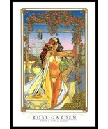 FANTASY ART Girl Rose Garden Signed/Numbered LIMITED EDITION~Steve Woron - $25.73