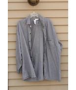 Men's CALVIN KLEIN 100% Cotton XL Light & Dark Grey striped Shirt - $29.20
