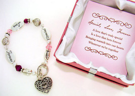 Special Love Forever Expression Heart Charm Bracelet Valentines Day Gift - $26.68