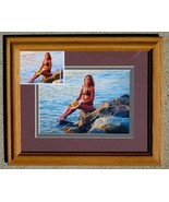 "Framed Steve Woron ""Amys Sunset"" Signed by Amy & Steve! - $39.59"