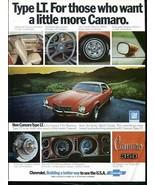 Vintage CHEVROLET LT 1973 73 CAMARO / 1973 Advertisement +FREE Ad! - $11.95
