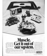 Vintage CARTER PERFORMANCE Racing Hot Rod Systems 1973 Advertisement +FR... - $11.83