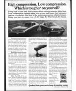 Vintage QUAKER STATE OIL ~JAVELIN vs CHEVY VEGA! 1973 Advertisement +FRE... - $11.83