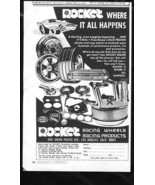 Vintage ROCKET RACING WHEELS 1973 Advertisement Los Angeles CA, +Bonus A... - $11.83