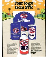 Vintage FOUR to GO FROM STP 1973 Racing Advertisement +FREE Ad! - $11.83
