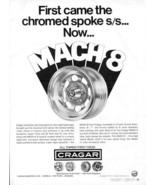 Vintage CRAGAR MACH 8 Mag Vari-Fit Wheel Rims 1973 Advertisement +FREE Ad! - $11.95