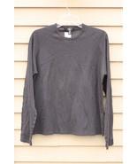 Men's CALVIN KLEIN LG Large Dark Grey Crew Neck Shirt - $29.94