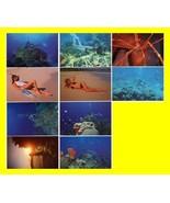 10 Underwater Amateur Bikini U.S. Virgin Islands Sexy Post Cards~SIGNED ... - $9.84