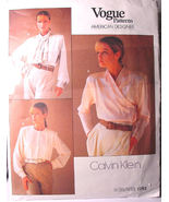 Vogue 1792 Three Blouses sz 12 ONLY by Calvin Klein - $6.99