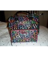 Calvin Klein Black Monogram Multi Color Handbag//Purse/Satchel w/Matching Wallet - $99.99