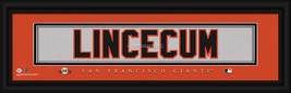 "Tim Lincecum San Francisco Giants Player Stitched Jersey 8"" x 24"" Framed Print - $39.95"