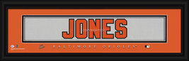 "Adam Jones Baltimore Orioles Player Stitched Jersey 8"" x 24"" Framed Print - $39.95"