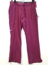 Skechers  Women's Scrubs Reliance 3 Pocket Drawstring Cargo Pants WINE sz MP - $11.39