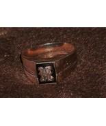 Collectors  10K GOLD Ring letter H _ Black Alaskan Diamond _ Mens or Lad... - $295.00