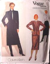 Vogue Pattern 1063 Skirt, Jacket Blouse size 12 ONLY by Calvin Klein - $9.99