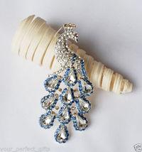 Rhinestone Crystal Peacock Brooch Pin Wedding Invitation Cake Decoration... - $34.00