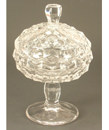 Fostoria Glass Jam/Jelly with Lid in the American Clear #2056 Pattern - $30.00