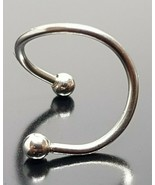 Twisted Spiral Curled 12mm 16g (1.2 mm) Ring Body Jewellery Titanium g23 - $27.86