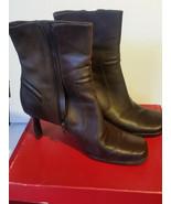 Victoria Spenser Debbie Brown High Heel Leather Boots Womens Size 8.5 M - $37.04
