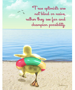 True Optimists: Funny Duckling Thinking Of You ... - $4.25