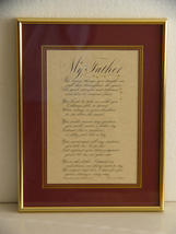 My Father. Calligraphy Print by World Famous John DeCollibus - $18.99
