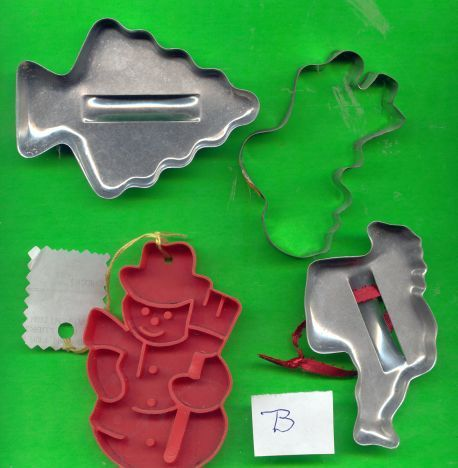 Holiday Cookie Cutters Lot B