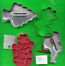 Holiday Cookie Cutters Lot B - $6.00