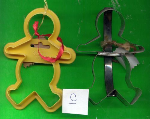 Two Gingerbreadman Cookie Cutters  Lot C