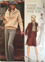 Vogue 2991 Misses' Jacket, Shirt, Pants & Skirt by Americana, Anne Klein... - $12.99