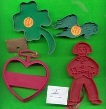 Lot of 5 Plastic Cookie Cutters .....I - $10.00
