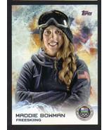 2014 Topps Winter Olympics Silver Medal #9 Maddie Bowman Freeskiing - $2.25