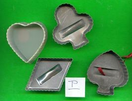 Aluminum and Plastic Cookie Cutters Lot P - $6.00