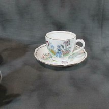 """""""English Bone China"""" Cup & Saucer Lady Strolling in Garden holding Parasol - $10.40"""